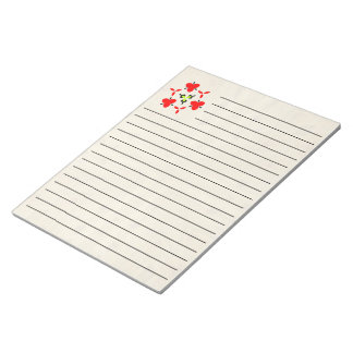 wood trendy abstract pattern notepad