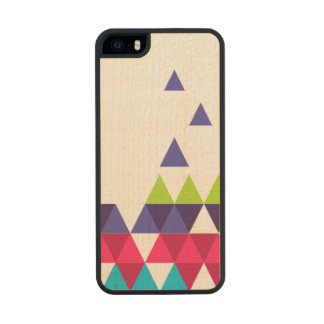 Wood triangle carved® maple iPhone 5 slim case