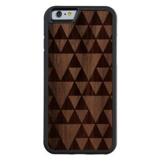 Wood triangles carved walnut iPhone 6 bumper case