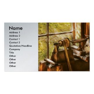 Wood Turner - An Old Lathe Pack Of Standard Business Cards