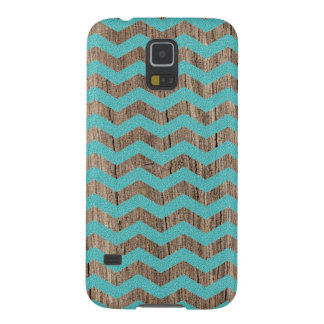 Wood turquoise chevron zig zag zigzag pattern cases for galaxy s5