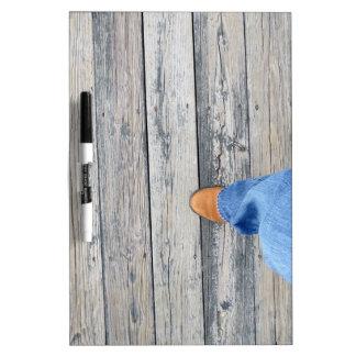 Wood Walking Dry-Erase Whiteboard