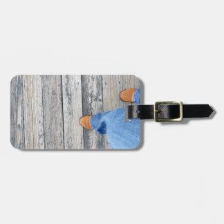 Wood Walking Luggage Tag