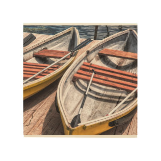 "Wood Wall Art 8""x8"" - The Boats"