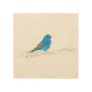 Wood Wall Art Blue Bird Music Notes Branch, Music Wood Prints