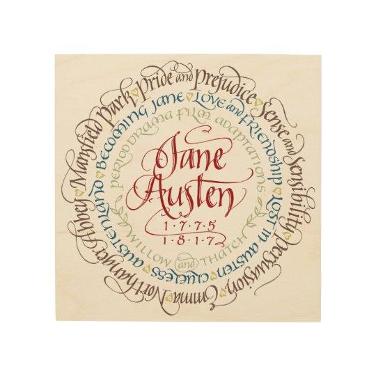 Wood Wall Art - Jane Austen Period Dramas