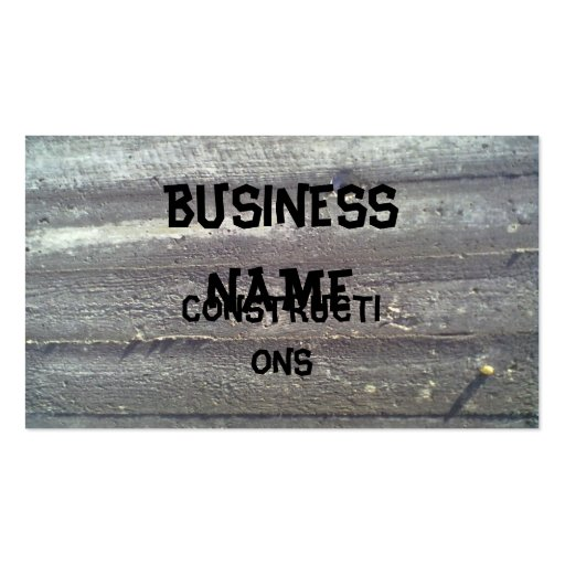 Wood wall business card template