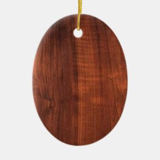 Wood WALNUT finish BUY BLANK Blanc Blanche + TEXT Christmas Tree Ornaments