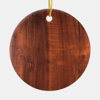 Wood WALNUT look BUY BLANK Blanc Blanche + TEXT Christmas Ornament