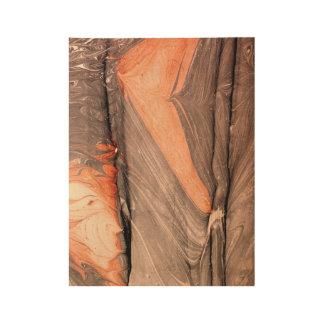 Wood Wave Pulled Marbling print