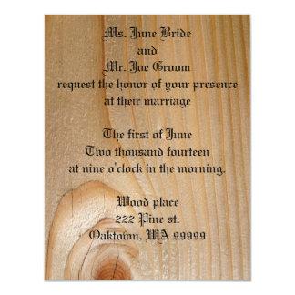 Wood Wedding Invitations - Pine