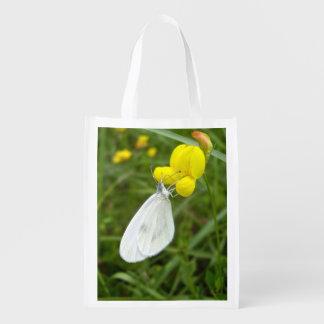 Wood White Butterfly Reusable Bag