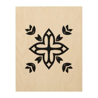 Wood with handdrawn Mandala art