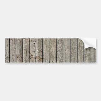 Wood with Iron Borders Background Bumper Stickers