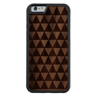 Wood with triangles carved® walnut iPhone 6 bumper case