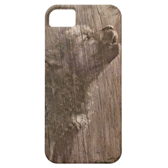 Wood Wolf Pup Art iPhone 5 Cover