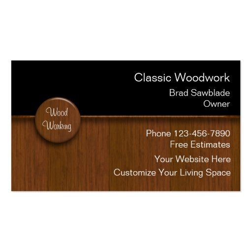 Wood Working Business Cards