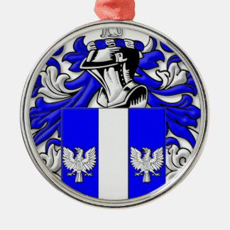 Woodard Coat of Arms Silver-Colored Round Decoration