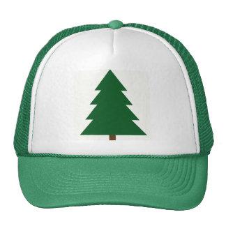 Woodblock Christmas Tree Cap