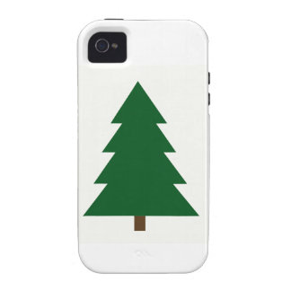 Woodblock Christmas Tree iPhone 4 Case