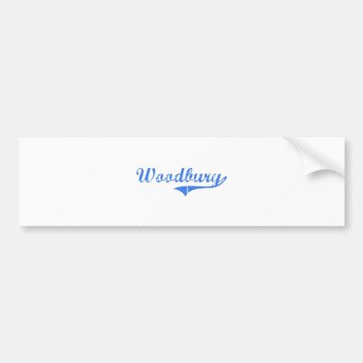 Woodbury Massachusetts Classic Design Bumper Stickers