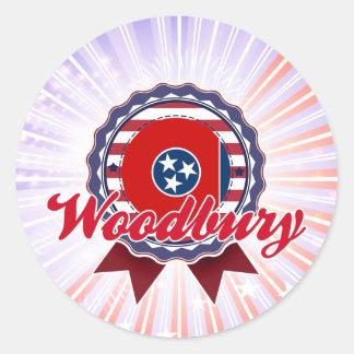 Woodbury TN Round Stickers