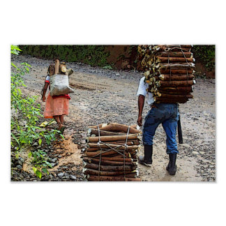 Woodcarriers, Guatemala Poster