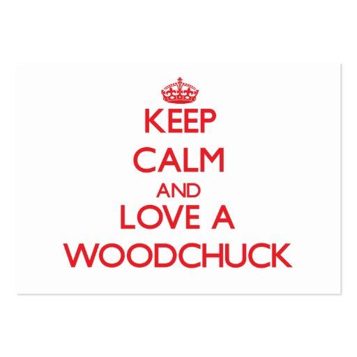 Woodchuck Business Card Templates