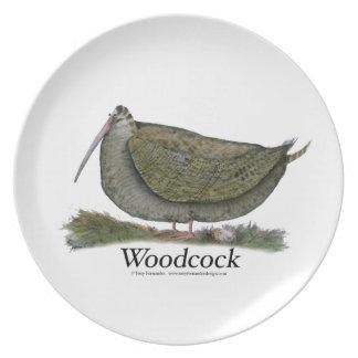 woodcock bird, tony fernandes plate