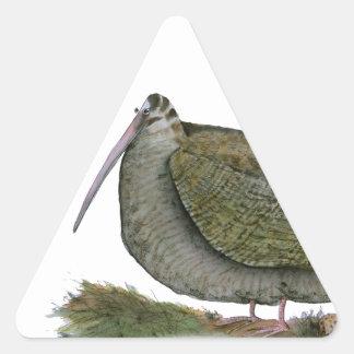woodcock bird, tony fernandes triangle sticker