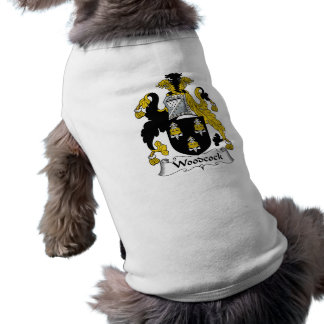 Woodcock Family Crest Sleeveless Dog Shirt