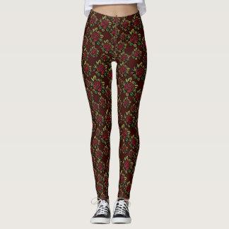 Woodcut Rose Leggings
