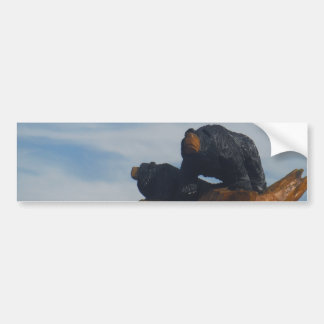 Wooded Black Bearswith  Blue Smoky Mountains Sky Bumper Sticker