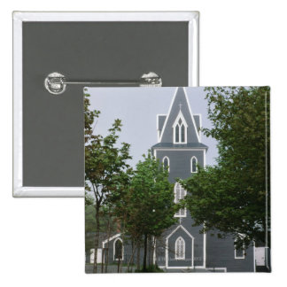 Wooded chapel, Newfoundland, Canada 15 Cm Square Badge