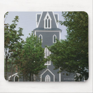 Wooded chapel, Newfoundland, Canada Mouse Mat