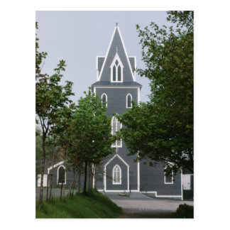 Wooded chapel, Newfoundland, Canada Postcard