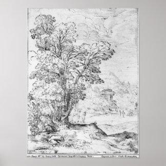 Wooded landscape poster