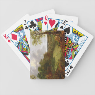 Wooded Landscape with a Cottage, Sheep and a Recli Bicycle Playing Cards