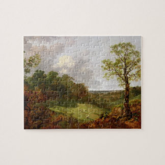 Wooded Landscape with a Cottage, Sheep and a Recli Jigsaw Puzzle