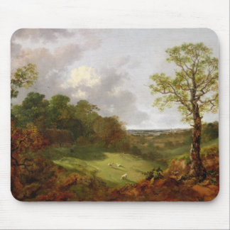Wooded Landscape with a Cottage, Sheep and a Recli Mouse Mat