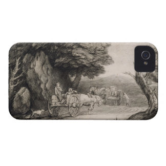 Wooded Landscape with Carts and Figures (etching o iPhone 4 Case