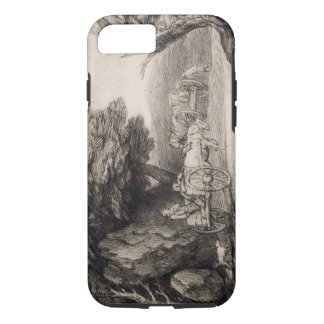 Wooded Landscape with Carts and Figures (etching o iPhone 7 Case