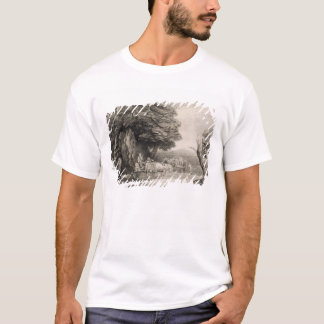 Wooded Landscape with Carts and Figures (etching o T-Shirt