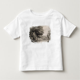 Wooded Landscape with Carts and Figures (etching o Tshirt