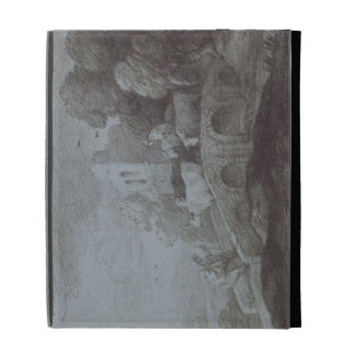 Wooded Landscape with Herdsman Driving Cattle (etc iPad Cases