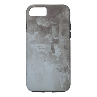 Wooded Landscape with Herdsman Driving Cattle (etc iPhone 7 Case