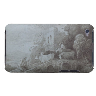 Wooded Landscape with Herdsman Driving Cattle (etc iPod Touch Case-Mate Case