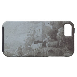 Wooded Landscape with Herdsman Driving Cattle (etc Tough iPhone 5 Case