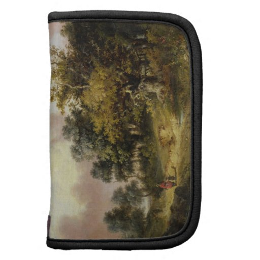 Wooded Landscape with Woman and Child Walking Down Organizers