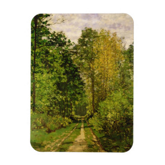 Wooded Path, 1865 (oil on canvas) Rectangular Photo Magnet